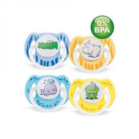 CHUPETE6-18SILICONA DECORADO BPA FREE X2