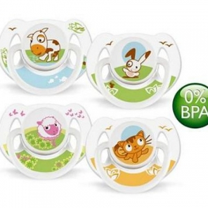 CHUPETE ANIMAL 6-18 SILICON BPA FREE X 2