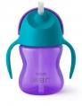 VASO Straw Cup 200ml, Violeta & Azul
