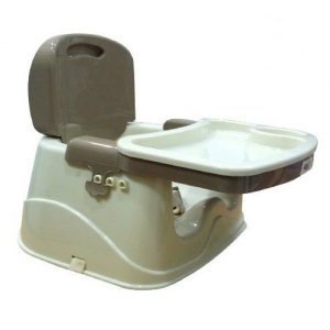 SILLA BOOSTER C/BASE BEIGE