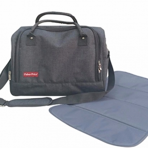 (1413-2D) BOLSO CAMBIADOR FISHER GRIS