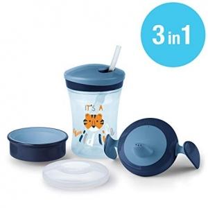 SET DE VASOS EVOLUTION CUP azul 3 unidades