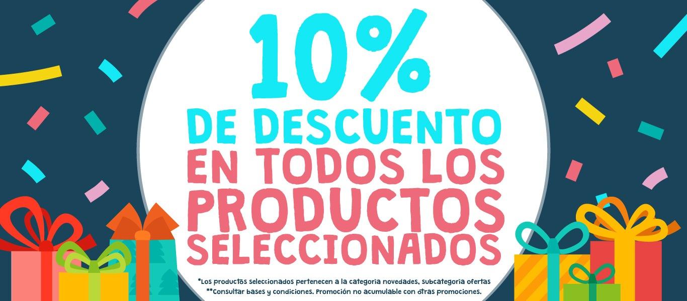 10% de descuento en todos los productos seleccionados